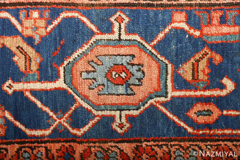large red antique serapi persian rug 51121 border Nazmiyal