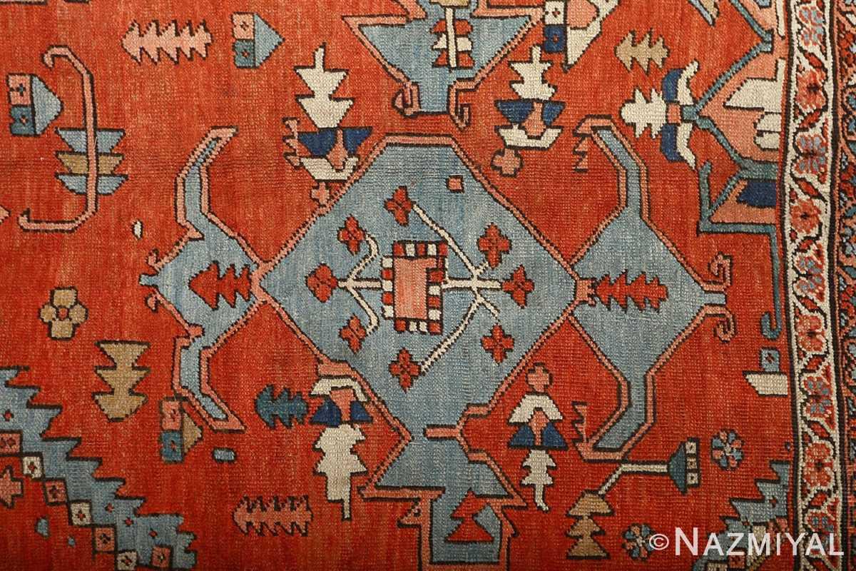 large red antique serapi persian rug 51121 field Nazmiyal