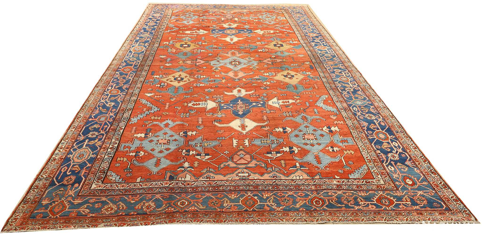 large red antique serapi persian rug 51121 full Nazmiyal