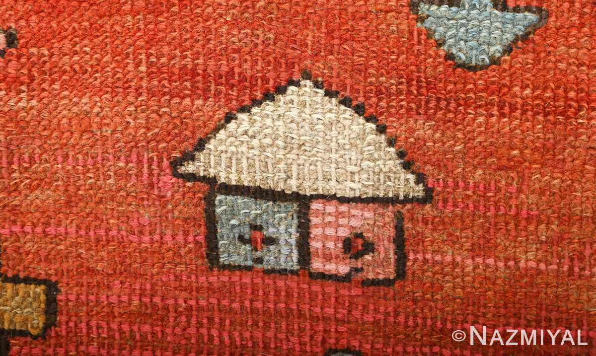 large red antique serapi persian rug 51121 house Nazmiyal