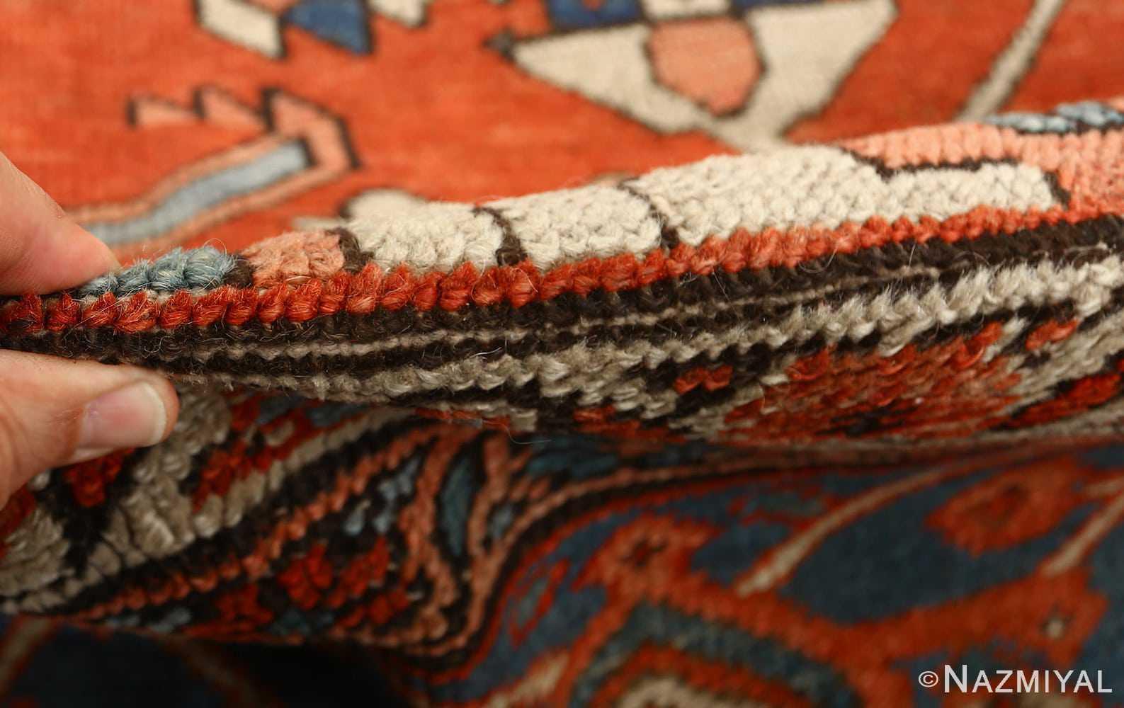 large red antique serapi persian rug 51121 pile Nazmiyal