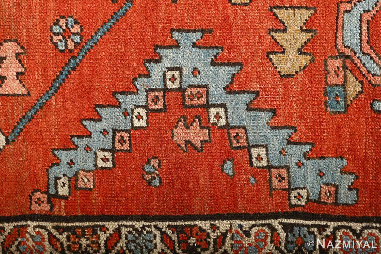 large red antique serapi persian rug 51121 pyramid Nazmiyal