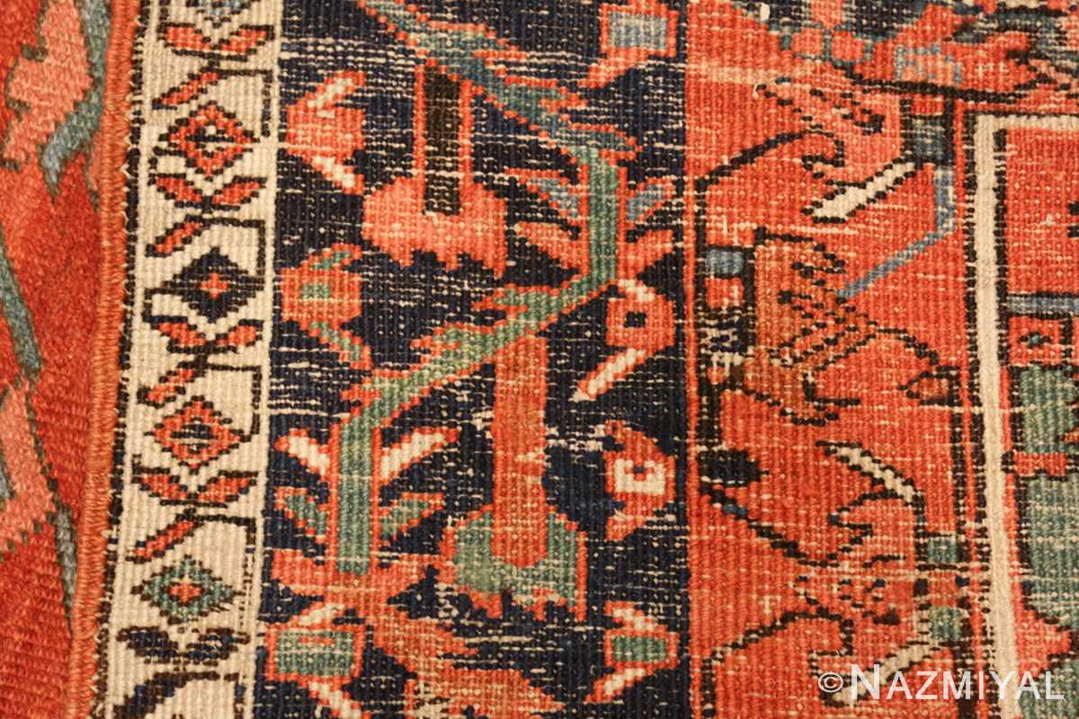 large red background antique serapi persian rug 49325 weave Nazmiyal