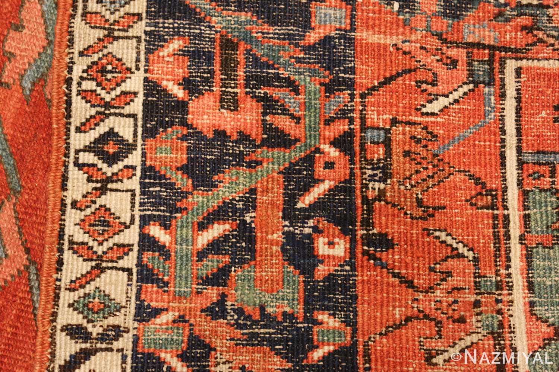 large red background antique serapi persian rug 49325 weave Nazmiyal