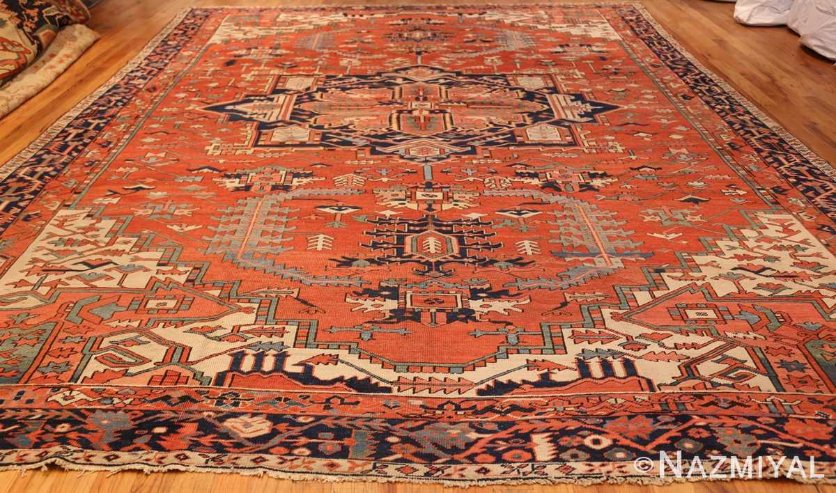 large red background antique serapi persian rug 49325 whole Nazmiyal