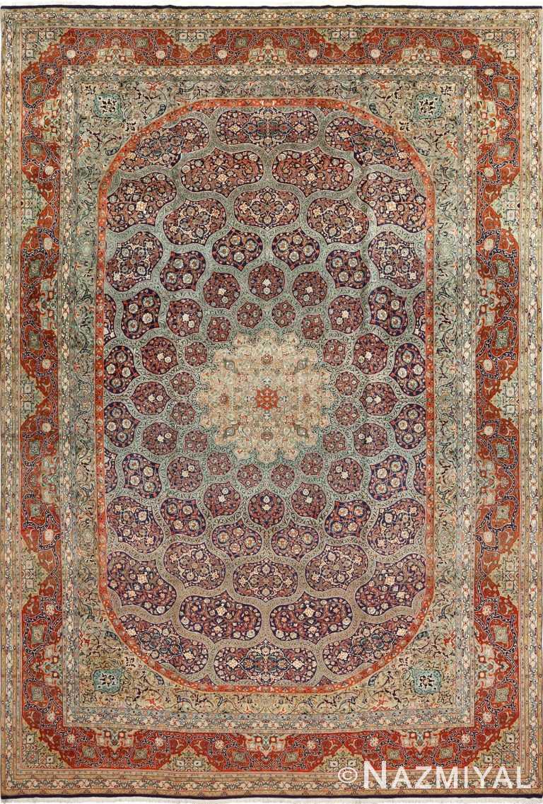 large vintage tabriz persian rug 51124 Nazmiyal