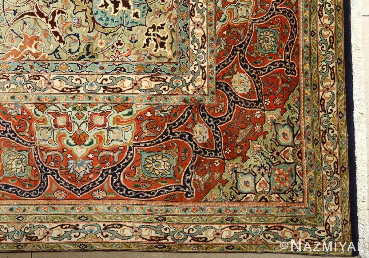 large vintage tabriz persian rug 51124 corner Nazmiyal