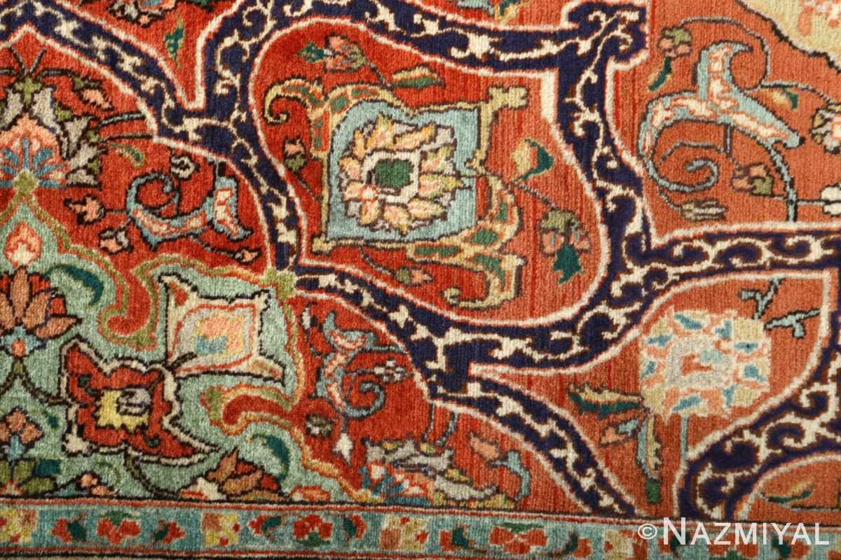 large vintage tabriz persian rug 51124 red Nazmiyal