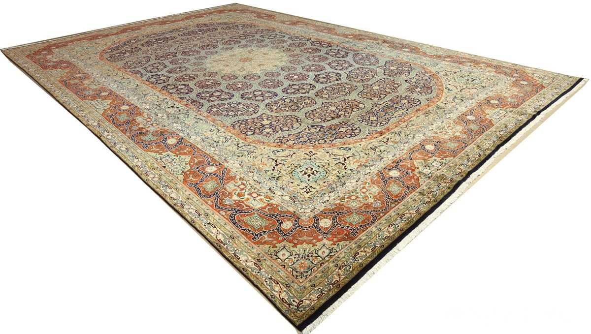 large vintage tabriz persian rug 51124 side Nazmiyal
