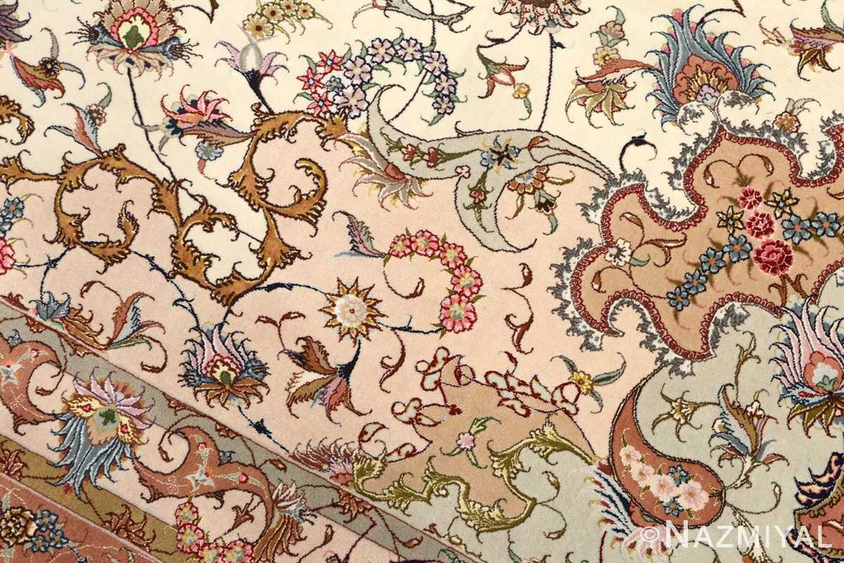 large vintage tabriz persian rug 51142 colors Nazmiyal