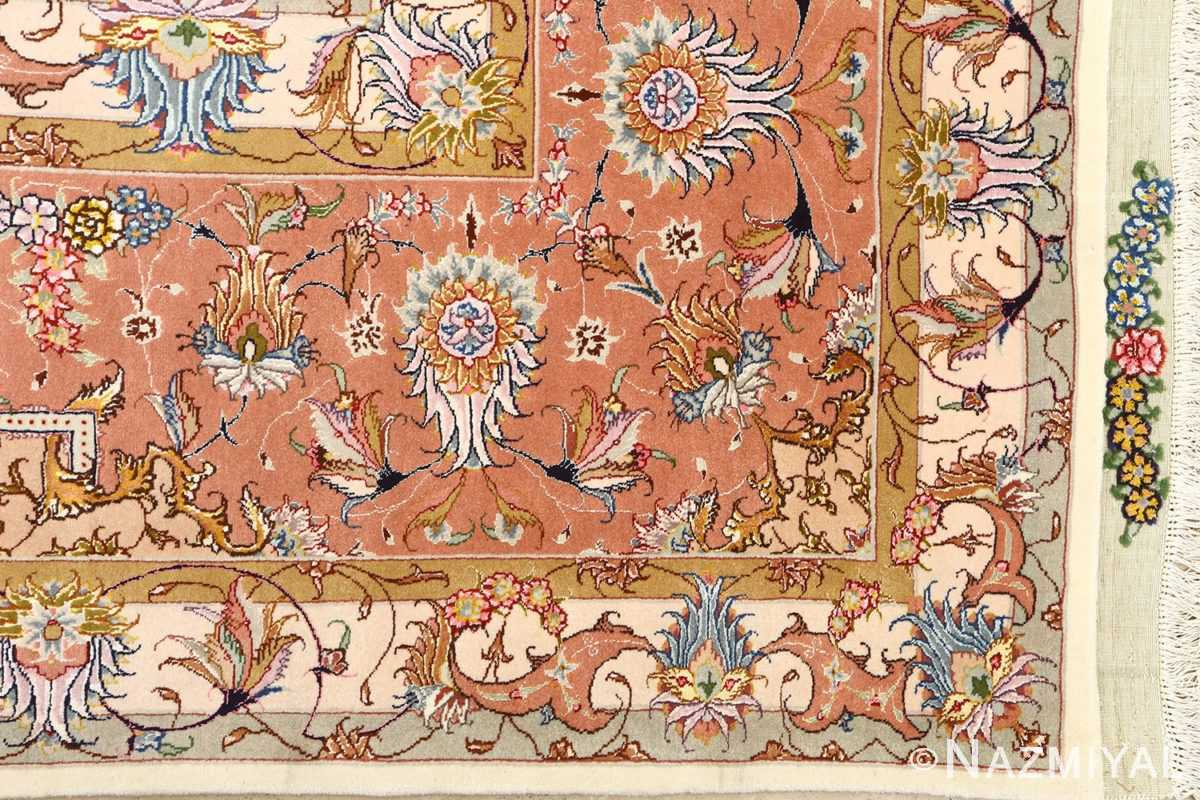 large vintage tabriz persian rug 51142 corner Nazmiyal