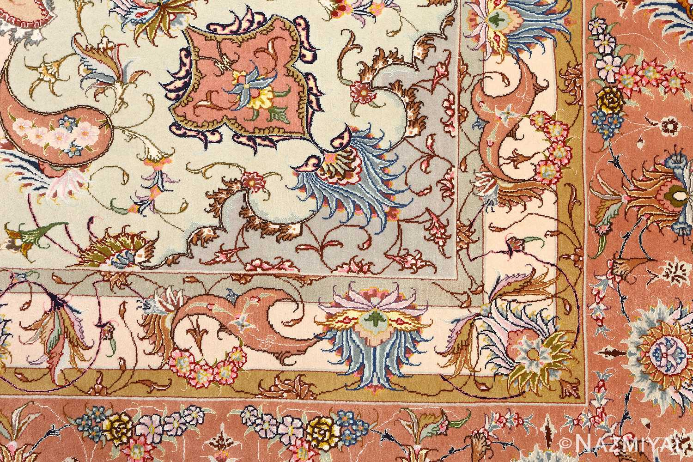 large vintage tabriz persian rug 51142 flowers Nazmiyal