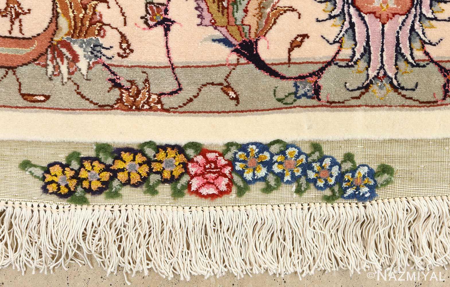 large vintage tabriz persian rug 51142 fringe Nazmiyal