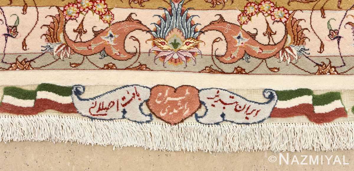 large vintage tabriz persian rug 51142 signature Nazmiyal