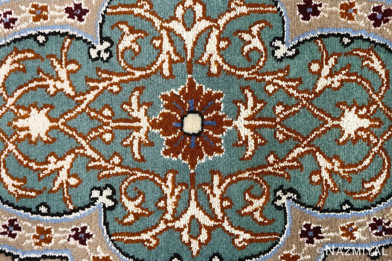 navy background vintage isfahan persian rug 51149 center Nazmiyal