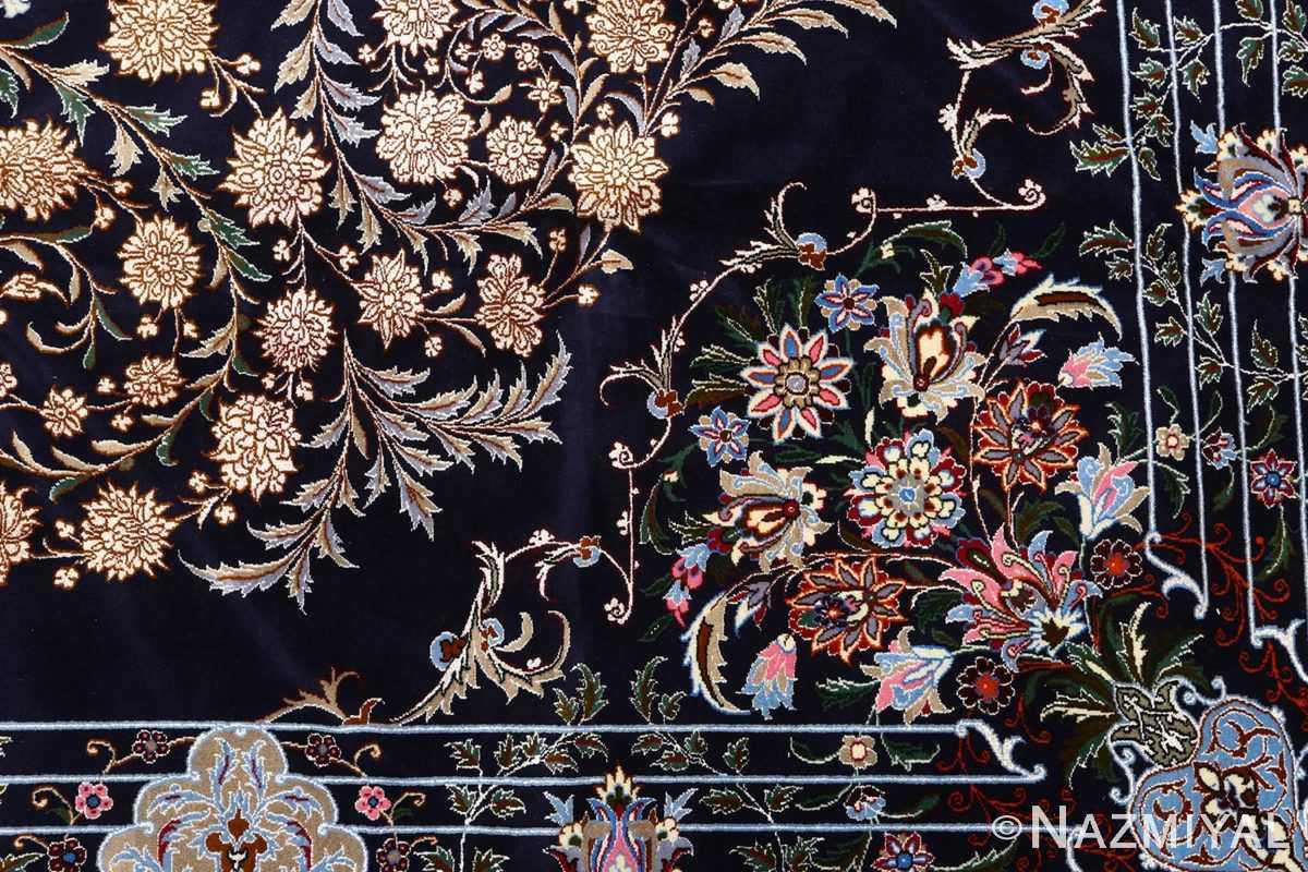 navy background vintage isfahan persian rug 51149 design Nazmiyal