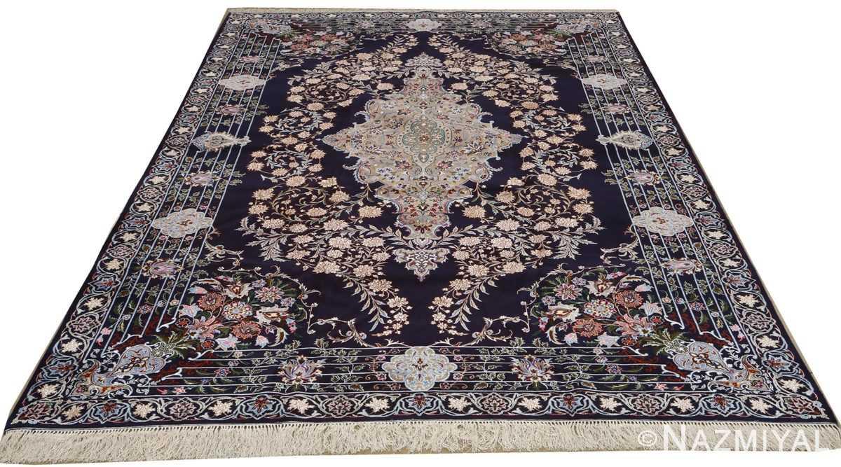 navy background vintage isfahan persian rug 51149 full Nazmiyal