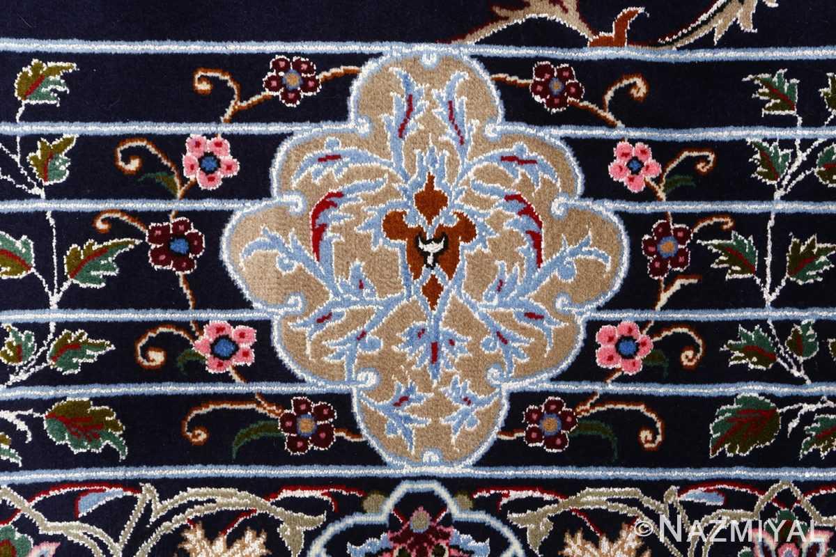 navy background vintage isfahan persian rug 51149 lines Nazmiyal