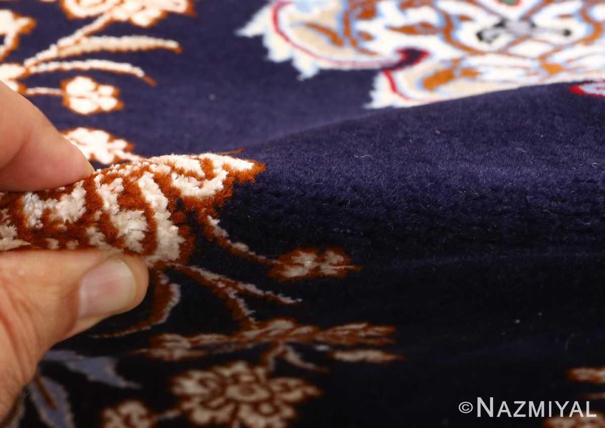 navy background vintage isfahan persian rug 51149 pile Nazmiyal