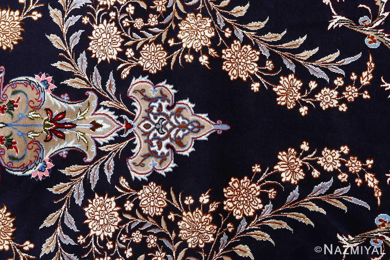 navy background vintage isfahan persian rug 51149 tiara Nazmiyal
