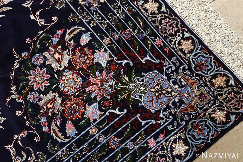 navy background vintage isfahan persian rug 51149 vase Nazmiyal