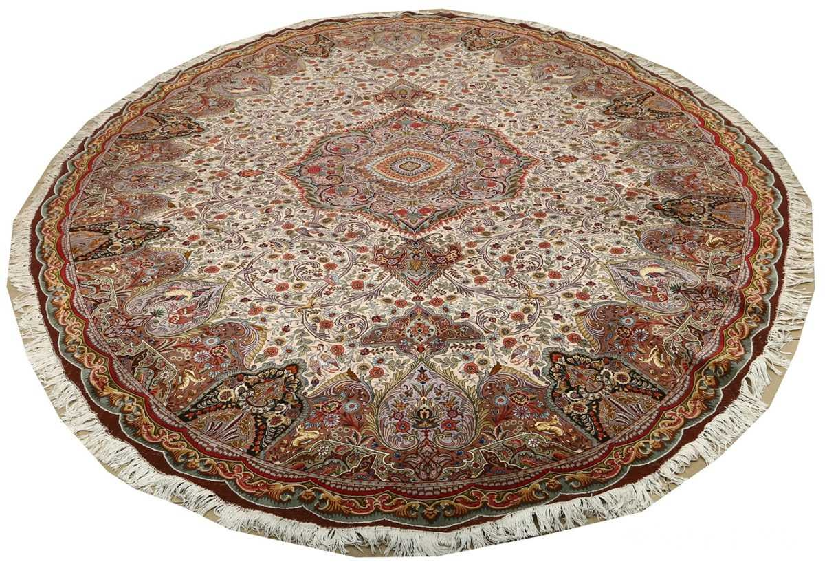 oval animal motif vintage tabriz persian rug 51120 full Nazmiyal