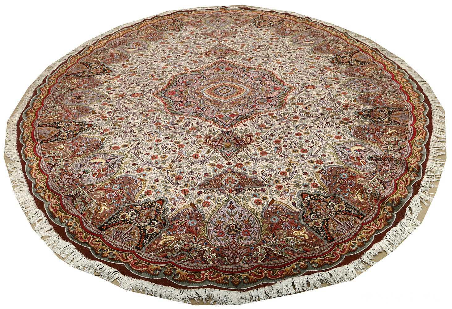oval animal motif vintage tabriz persian rug 51120 full Nazmiyal