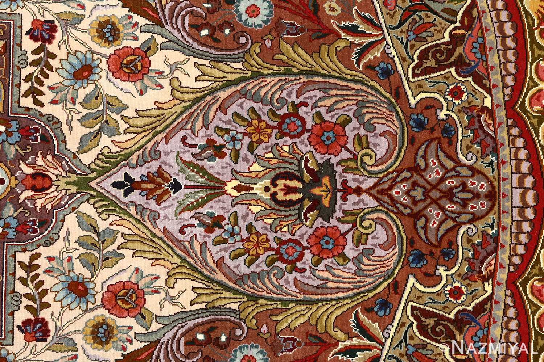 oval animal motif vintage tabriz persian rug 51120 heart Nazmiyal