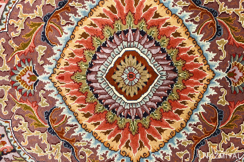 oval animal motif vintage tabriz persian rug 51120 middle Nazmiyal