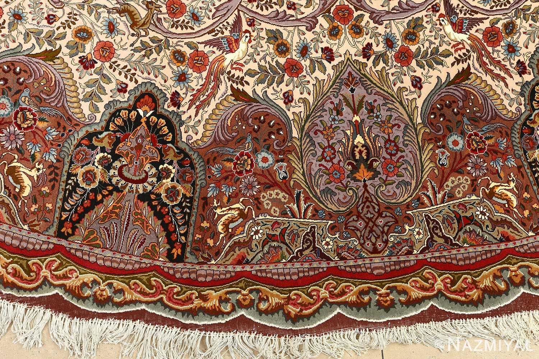 oval animal motif vintage tabriz persian rug 51120 other Nazmiyal