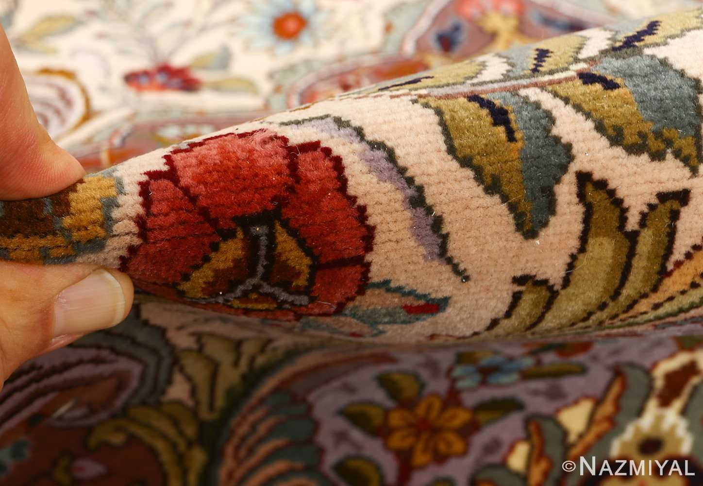 oval animal motif vintage tabriz persian rug 51120 pile Nazmiyal