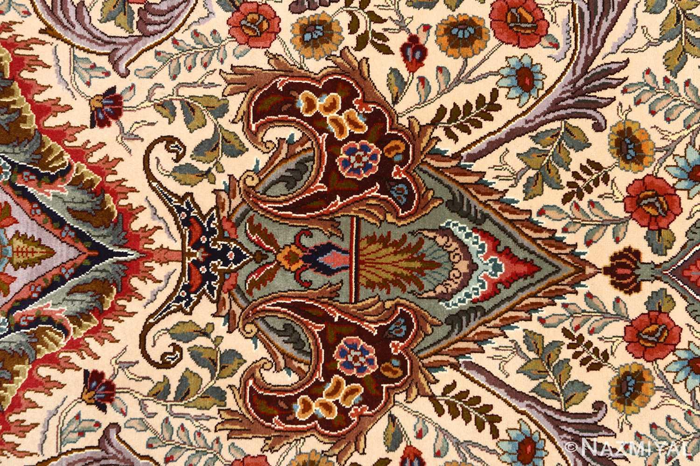 oval animal motif vintage tabriz persian rug 51120 tiara Nazmiyal