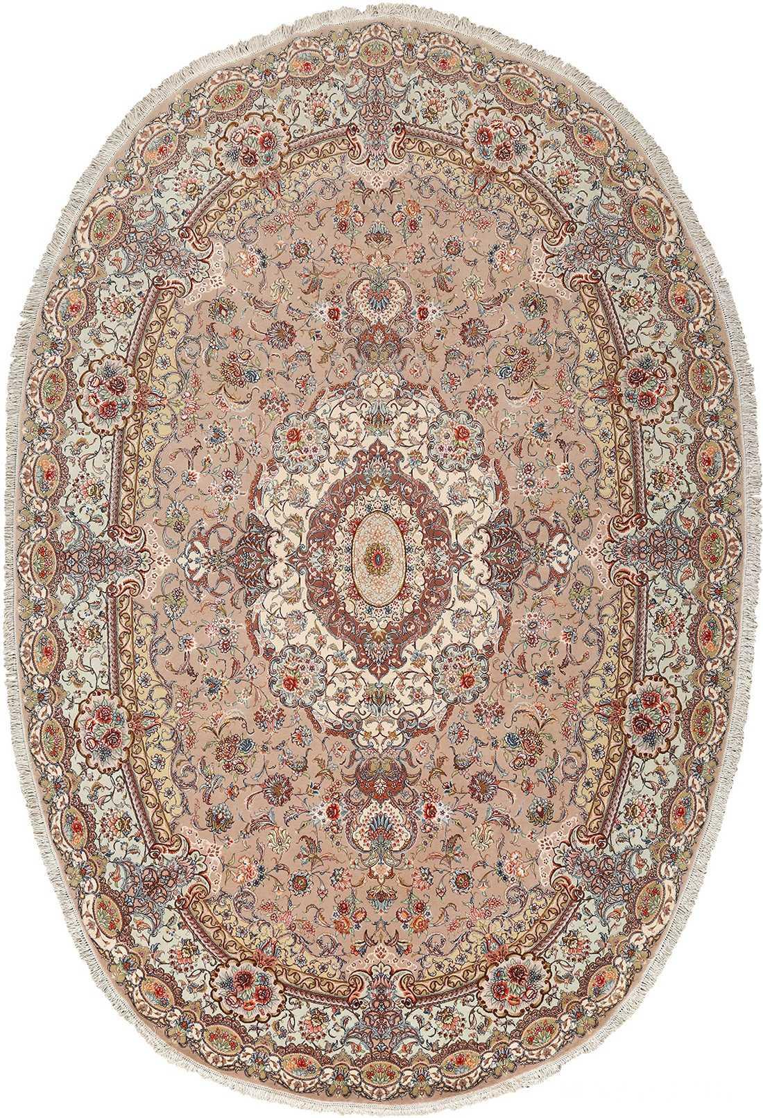 oval vintage tabriz persian rug 51135 Nazmiyal
