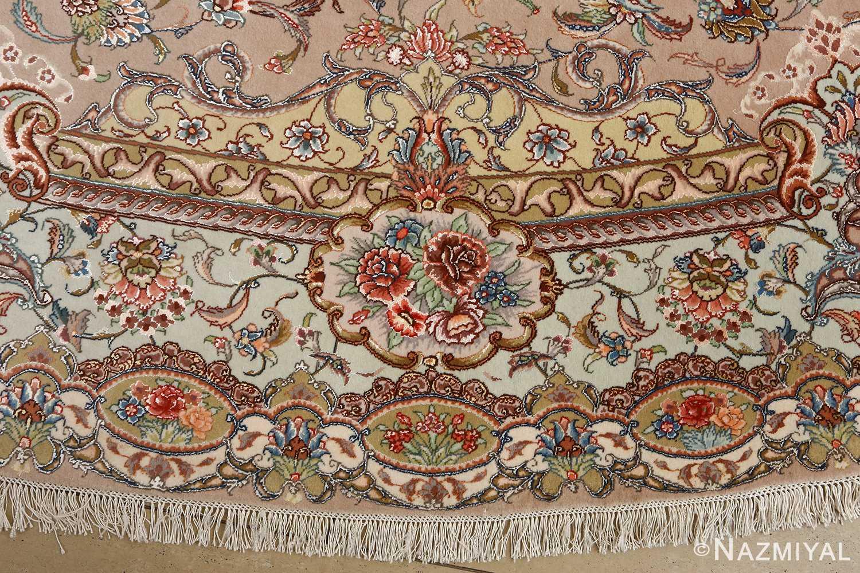 oval vintage tabriz rug 51135 border Nazmiyal