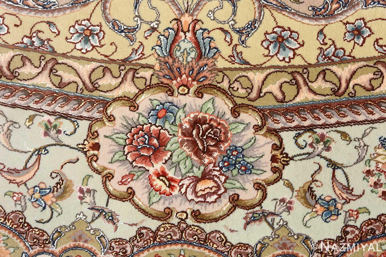 oval vintage tabriz rug 51135 design Nazmiyal
