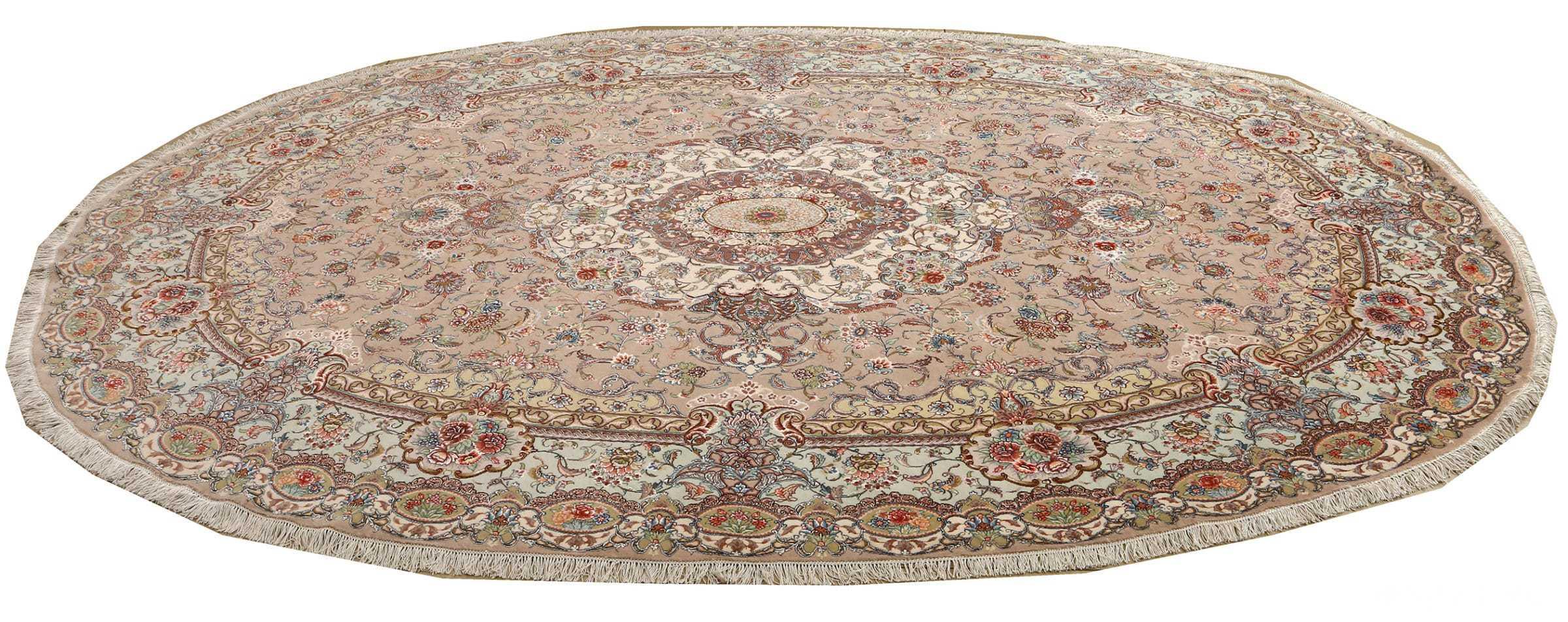 oval vintage tabriz rug 51135 horizontal Nazmiyal