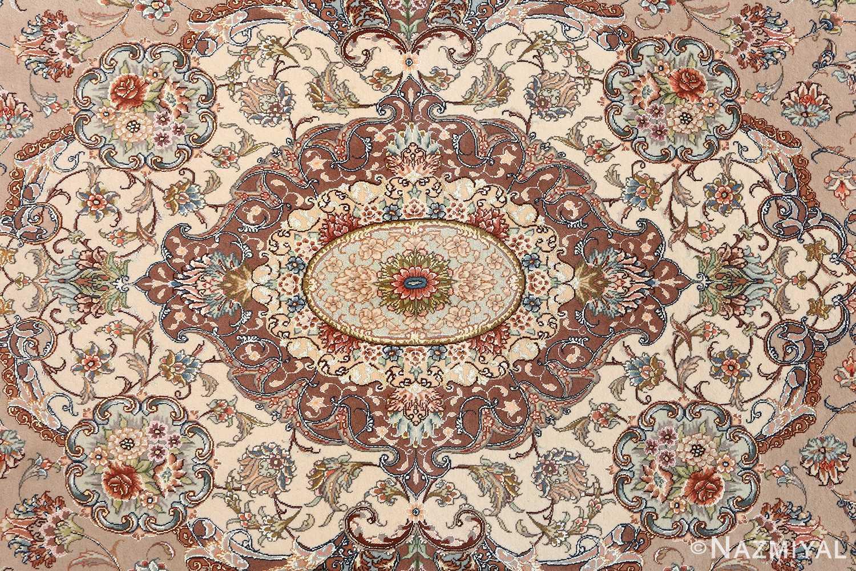 oval vintage tabriz rug 51135 medallion Nazmiyal