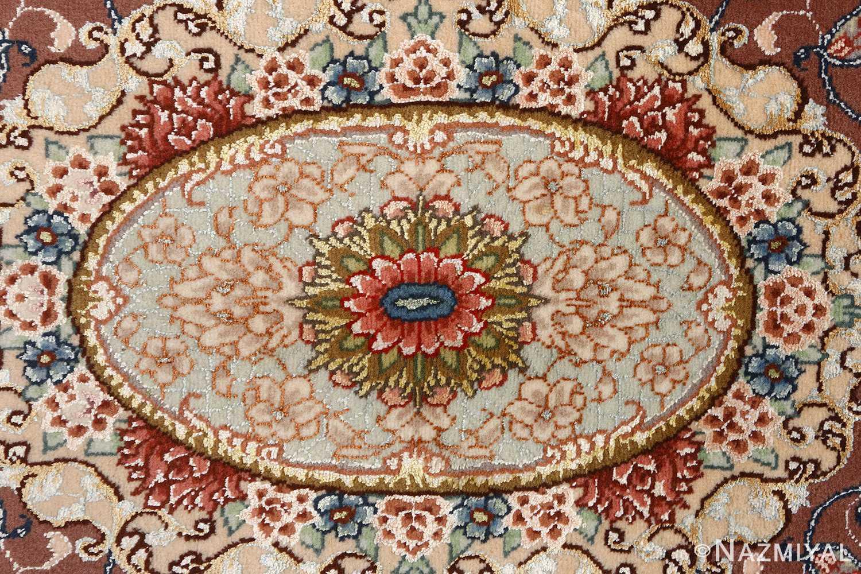 oval vintage tabriz rug 51135 middle Nazmiyal