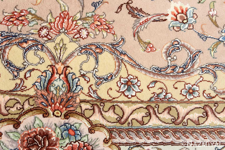 oval vintage tabriz rug 51135 peony Nazmiyal