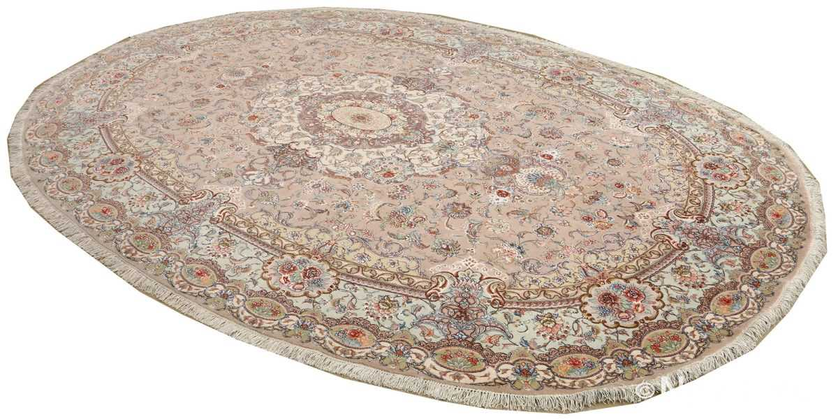 oval vintage tabriz rug 51135 side Nazmiyal