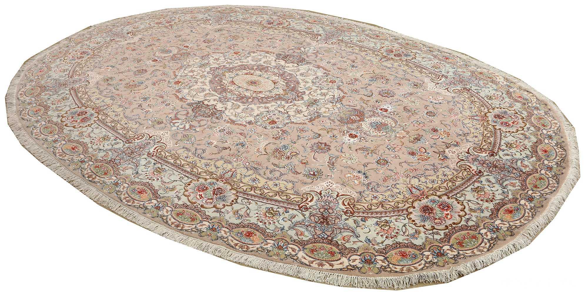 oval vintage tabriz rug 51135 side Nazmiyal