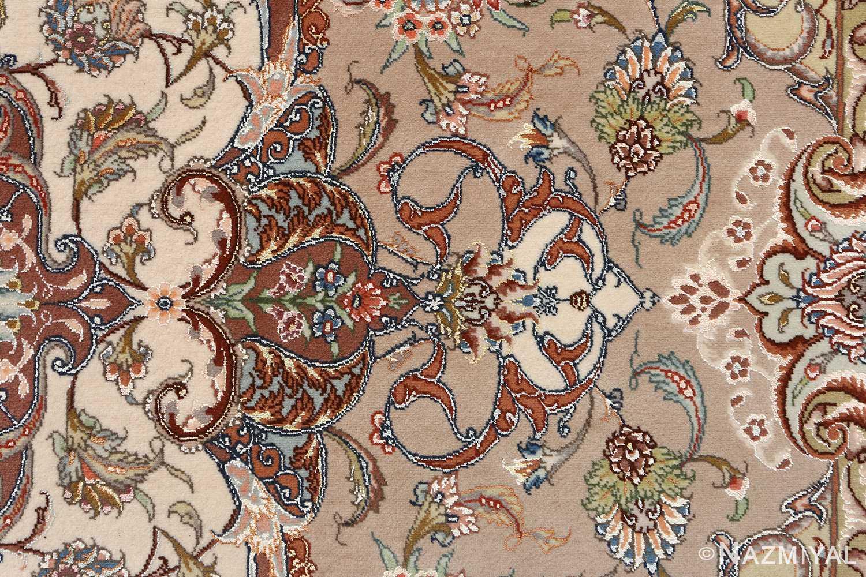 oval vintage tabriz rug 51135 tiara Nazmiyal