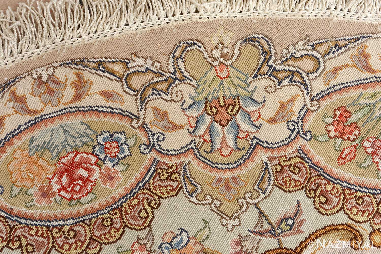 oval vintage tabriz rug 51135 weave Nazmiyal