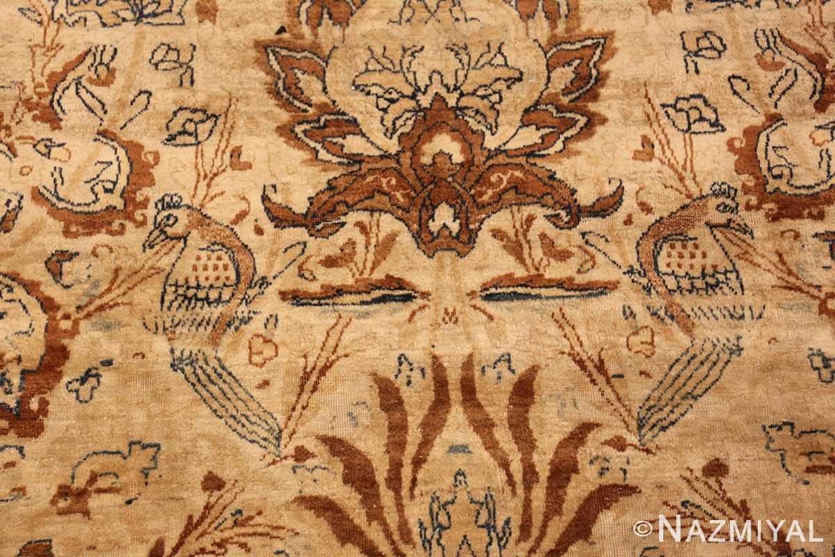 oversized animal motif kerman persian rug 49330 sitting Nazmiyal