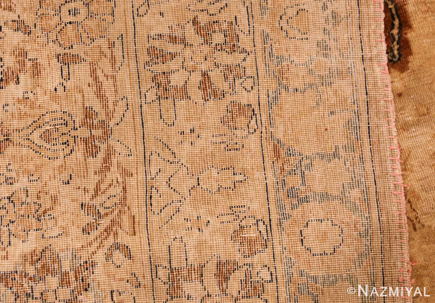 oversized animal motif kerman persian rug 49330 weave Nazmiyal