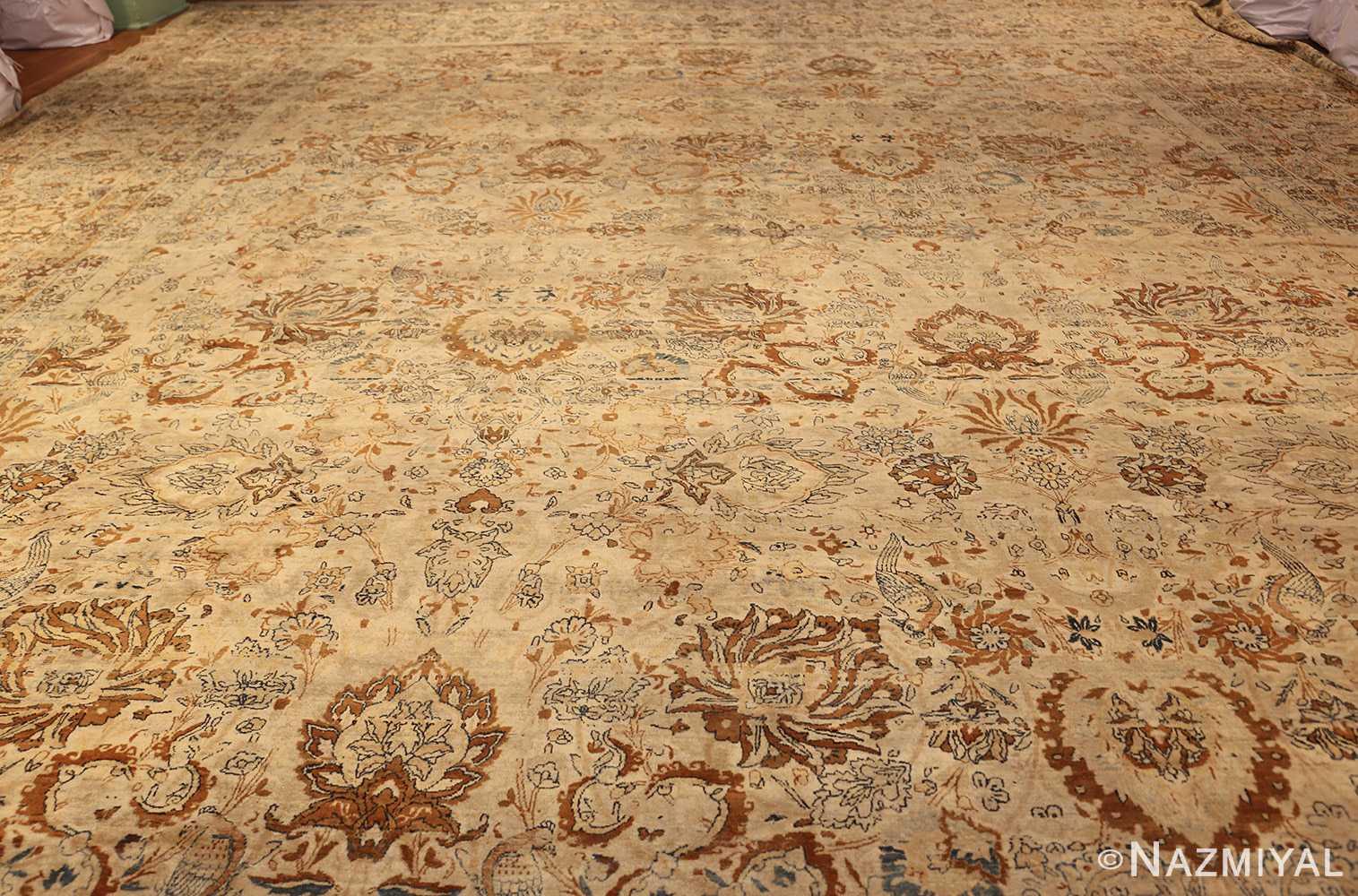 oversized animal motif kerman persian rug 49330 whole Nazmiyal