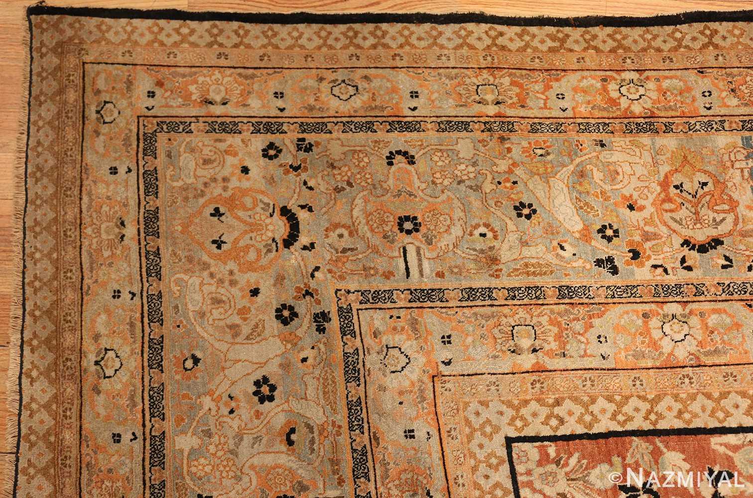 oversized antique tabriz haji jalili persian rug 49317 corner Nazmiyal