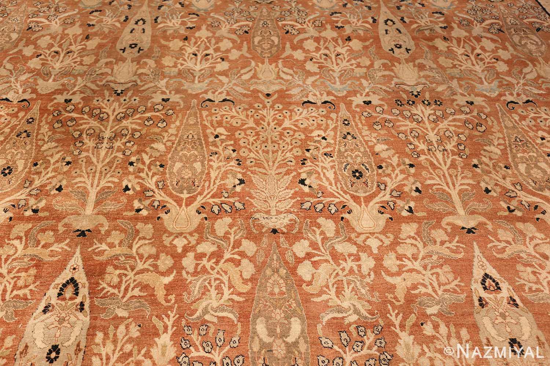 oversized antique tabriz haji jalili persian rug 49317 field Nazmiyal