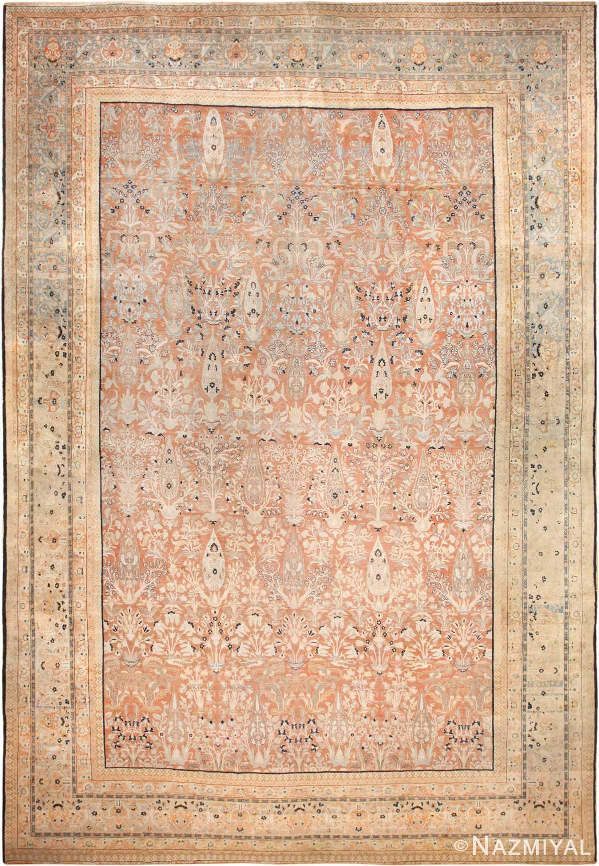 oversized antique tabriz haji jalili persian rug 49317 nazmiyal