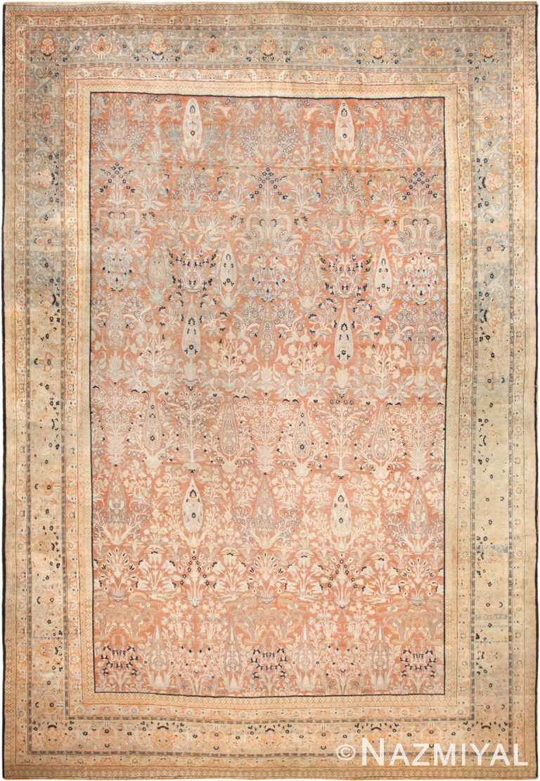 oversized antique tabriz haji jalili persian rug 49317 nazmiyal